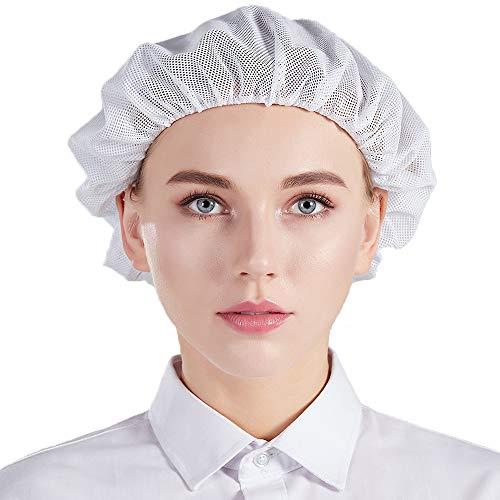 Nanxson Unisex Arbeitsmütze Haarnetz elastisch Werkstatt Industrie atmungsaktiv Staubmütze 5 Stück (TM) CF9023 (Weiß)
