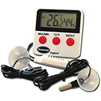 Reptile serbatoio termometro digitale max min e igrometro con telecomando sonde–ideale per serbatoi di rettile, Terrariums, Vivariums, Allevatrici, e incubatrici