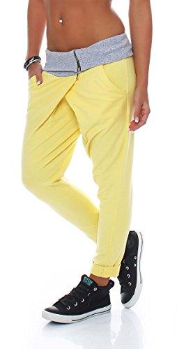 malito Baggy in Wickel-Optik Sweatpants 3318 Damen One Size Gelb