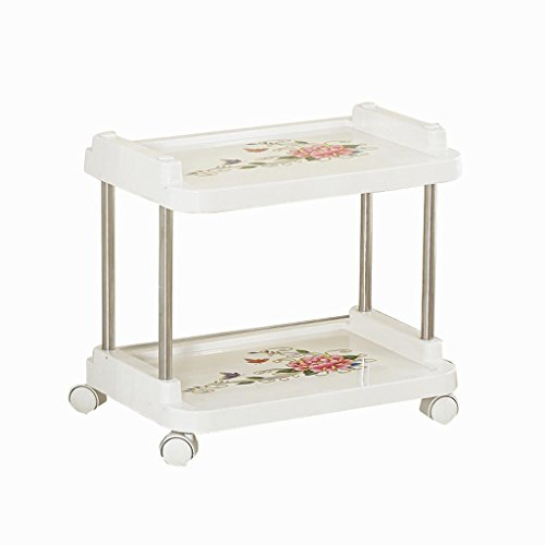 LSX-Etagenwagen Trolley-Multifunktionale Beauty Car Friseursalon Trolley Home Küche Bad Werkzeug Auto Regal OYO (Color : White, Size : 46 * 31 * 67CM)
