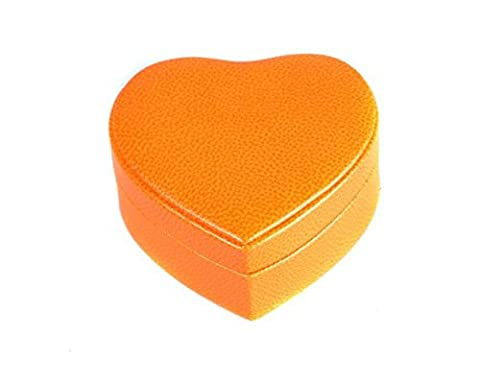 SAGEBROWN Orange Heart Shaped Jewellery Box
