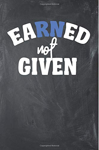 "Earned Not Given: Wide Ruled Motivational Gym Notebook Journal (6"" x 9"", 110 pages) por JP Sport Publishing"