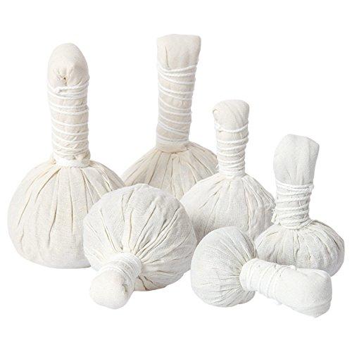 Thailändische Kräuterstempel, Kräuter Stempel, Massagestempel, Massage, 6er Set