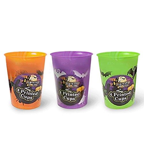 Halloween a tema Casa Bicchieri di plastica resistente, lavabile, riutilizzabile.