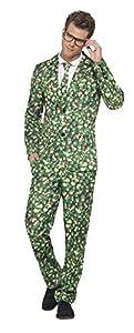 Smiffys Disfraz de Col de Bruselas, Verde, con Chaqueta, Pantalones y Corbata