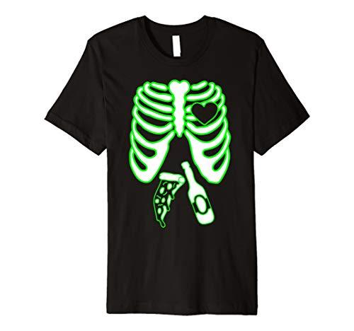(Herren Herren Skelett Xray TShirt, Herren Halloween Passende Kostüm X-Ray)