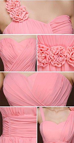 drasawee femmes Bonnet de mousseline de soie à manches courtes Junior robe de Cérémonie robes Rose