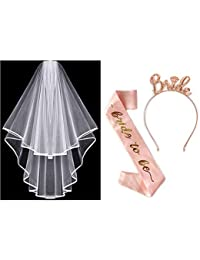 Nager Hen Party Decoration, Bride To Be Sash, Bridal Veil, Headband Tiara