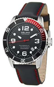 Golana Aqua Pro Swiss Made Divers Mens Watch Rotating Divers Bezel AQ200.3