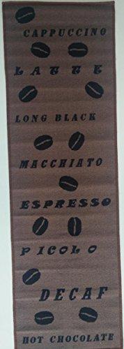 Andiamo 1100336 Küchenläufer Cappuccino Cups Küchenteppich Kaffeetassen Oeko Tex, 67 x 180 cm, braun