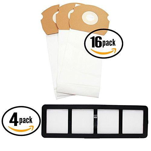 48 Replacement Eureka ASM1155 Vacuum Bags & 4 HEPA Filter - Compatible Eureka AS Vacuum Bag & EF-6 Filter