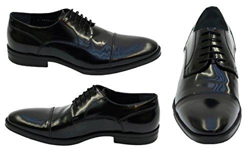 Muga Hommes chaussures à lacets-0105- Noir
