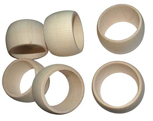 Holz Serviette Ringe 6-teilig Set