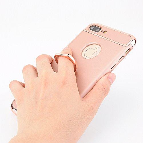 Voguecase® Pour Apple iPhone 7 4,7,[3 en 1] 360 complet Protection Slim Case dur Fit Slender Ultra-Thin Scratch Resistant Rigide Cover Skin Case Coque léger revêtement de protection supérieure de revê Support de Bague-Argent