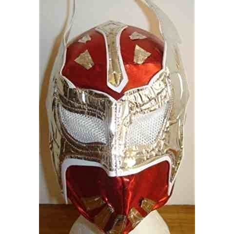 SIN CARA RED WWE WRESTLING MASK STYLE FANCY DRESS UP COSTUME OUTFIT WRESTLEMANIA 2013 TAG TEAM SUIT GEAR