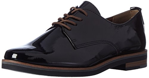 Marco Tozzi Damen 23202 Oxfords, Schwarz (Black Patent), 38 EU