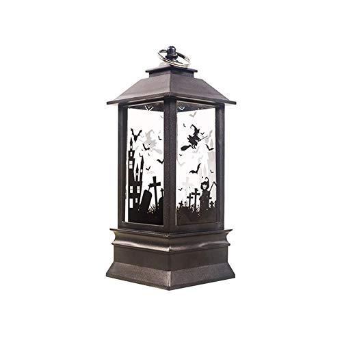 chenut Halloween Lampe Elektrische Halloween Kerzenlampe LED Simulation Flammenöl Kerzenlampe mit Batterie Retro Halloween Themen Dekoration Lichter 7.8 X 19 cm