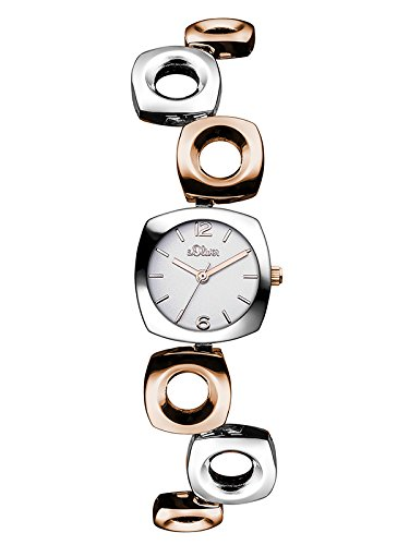 s.Oliver Damen-Armbanduhr XS Analog Quarz Alloy SO-3012-MQ