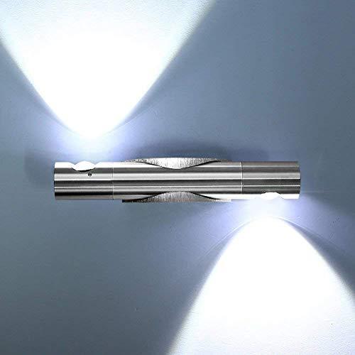 Glighone Apliques de Pared Lámpara Moderna 2 Led 6W Luz de Moda Luz en Aluminio Adecuado para Dormitorio...