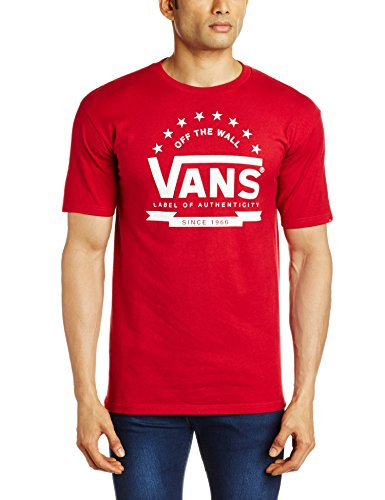 VANS Men's T-Shirt (8907222044213_VN-00RMCAR_X-Large_Cardinal)  available at amazon for Rs.479