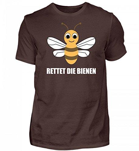 Shirtee Hochwertiges Herren Rettet Die Bienen Braun