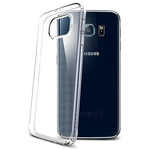 Samsung Galaxy S6 Hülle, Spigen® [Liquid Crystal] Ultra Dünn [Crystal Clear] Transparent Soft-Flex Handyhülle / Bumper-Style Premium-TPU Silikon / Perfekte Passform / Durchsichtige Schutzhülle für Samsung S6 Case, Samsung S6 Cover, Galaxy S6 Case, Galaxy S6 Cover - Crystal Clear
