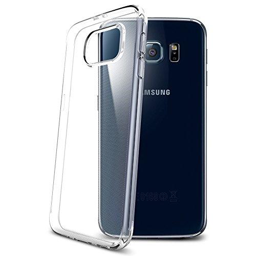 Samsung Galaxy S6 Hülle, Spigen® [Liquid Crystal] Ultra Dünn [Crystal Clear] Transparent Soft-Flex Handyhülle / Bumper-Style Premium-TPU Silikon / Perfekte Passform / Durchsichtige Schutzhülle für Samsung S6 Case, Samsung S6 Cover, Galaxy S6 Case, Galaxy S6 Cover - Crystal Clear (SGP11307)