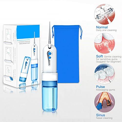 QIYE Munddusche Zahnreiniger Kabellos, Elektrische Munddusche, Professionelle Oral Wasserreiniger, Zahnreinigung, für gesünderes Zahnfleisch, für Kinder Erwachsener Senior Zahnpflege