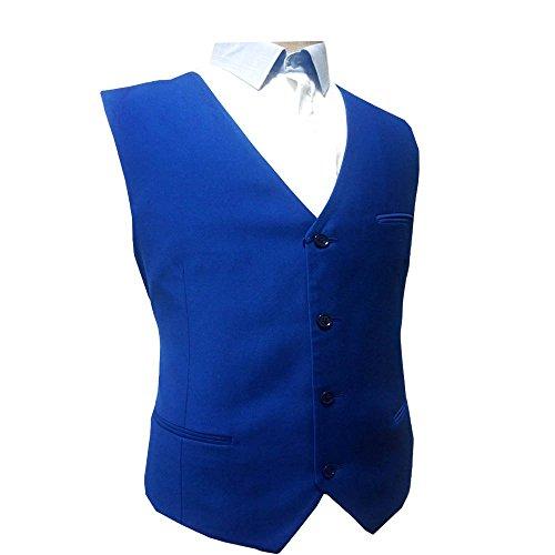 MA 100% Wolle Herren Anzugweste Hochzeit Weste Cool Blue