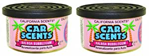 California Scents Lot de 2 désodorisants pour voiture Bubble gum