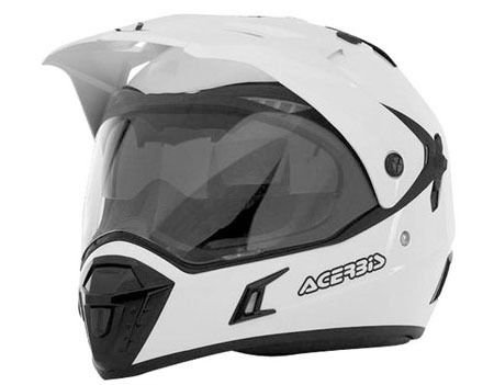 Casco Helmet Helm Capacete ACERBIS ACTIVE motard enduro quad atv (M, BIANCO - WHITE)