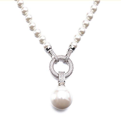 LF collana di perle bianco Collana Varietà varietà di metodo di indossare - Argento Nome Blocco Collana