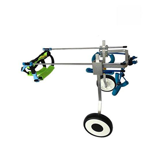 MEI Haustier Tasche 2 Wheel Dog Wheelchair Cart Kit Verstellbarer Hundehaustier-Rollstuhl für hintere Beinrehabilitation (Size : L)