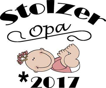 Mister Merchandise Herren Men V-Ausschnitt T-Shirt Stolzer Opa - 2017 Tee Shirt Neck bedruckt Weiß