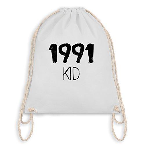 Geburtstag - 1991 KID - Turnbeutel I Gym Bag Weiß