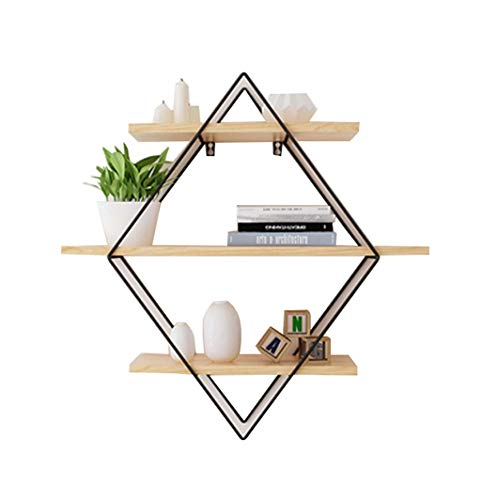 Regal Haushaltsregal Küchenregal Standregal Multifunktions-Rack Wandbehang aus Holz Lagerregal Dekoration schwimmende Regal Display Regal Bücherregal Rekord Frame Pflanze Blume Frame Dekoration Home O