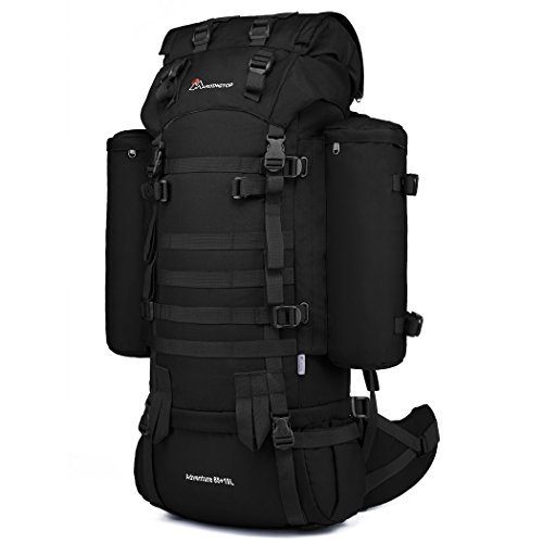 Mardingtop 65+10L sac a dos militaire Sac à dos tactique avec housse de pluie pour trekking/randonnée/camping/voyage 4 couleurs