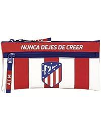 Safta Estuche Doble Cremallera Atlético De Madrid Oficial Escolar 230x110mm