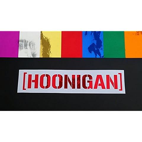 HOONIGAN Ken Block Hooning Chrome 7 Colours Vinyl Die Cut Car Window Bumper Funny Scene (1037 Vinyl)