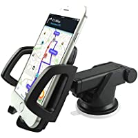 Car Phone Mount, Mostfeel parabrezza Car Holder universale Telefono regolabile della culla del supporto per iPhone 7 / 6plus / 6S / 6 / SE / 5s / 5, Samsung Galaxy S7 / S6 Bordo / S6 / S5 / Nota 5/4, LG G4 HTC e Altri Cellulari