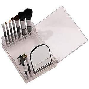 3rb – Makeup Brush Set With Mirror & Organizer (9 Piece Brushes, 1 Piece Mirror)