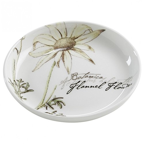 Maxwell & Williams S692126 Botanic Untersetzer, Floral Flanell, 10 cm, in Geschenkbox, Porzellan (Glanz Flanell)