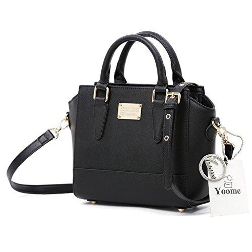 Borse eleganti di Yoome per le donne Borse di rivestimento in ottone Nero