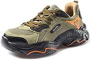 CHNHIRA Chaussures de Securité Homme Embout Acier Protection Antidérapante Anti-Perforation Chaussures de Trav