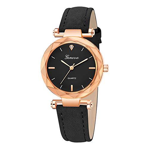 mband Neue Leder Armbanduhr Edelstahl Zifferblatt Quarz-Armbanduhr Luxus Armband Exquisit uhr Klassisch uhr ABsoar ()
