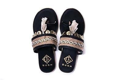 Gush Shoes & Accessories Women's Black Fashion Sandals - 10 UK/India (43 EU)(GW - 105 Black NOMADS-10)