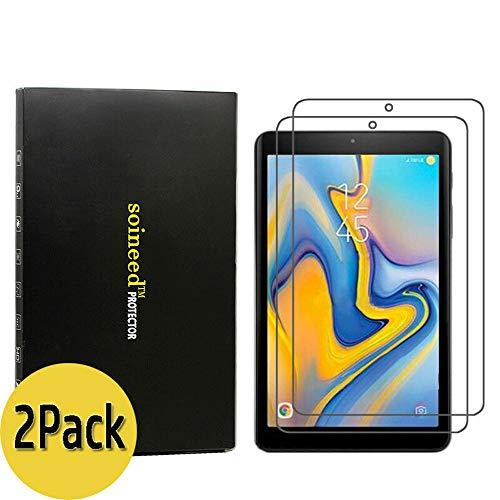 Soineed [2er-Pack] für Samsung Galaxy Tab A 8.0 Zoll SM-T387 T387V T387A T387P T387T (2018 bezogen) gehärtetes Glas Displayschutzfolie [9H Härte] [Kratzfest] [High Definition] Verizon Pack