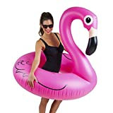 BigMouth Inc. Rose Flamingo piscine flotteur, Gonfle vers Plus de 1,2m. Grand format