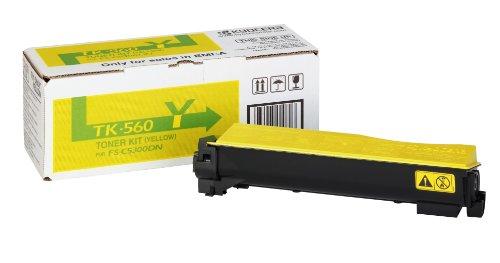 Preisvergleich Produktbild Kyocera TK-560Y Toner Gelb. Original Tonerkartusche 1T02HNAEU0. Kompatibel für ECOSYS P6030cdn, FS-C5300DN, FS-C5350DN