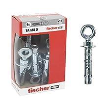 Fischer Tasselli Acciaio Ta M 8 con occhiolo, Diametro 12 mm, 71255, 6 Pezzi per Confezione, M8
